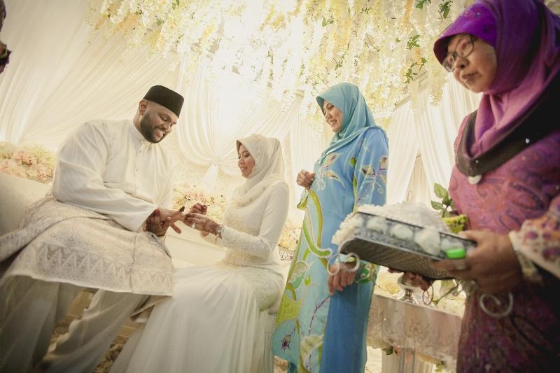 all white wedding Malay
