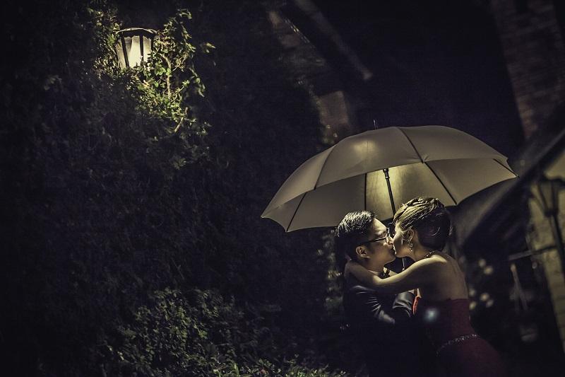 umbrella at night