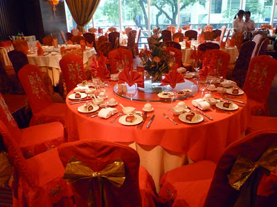red table chair covers curtains