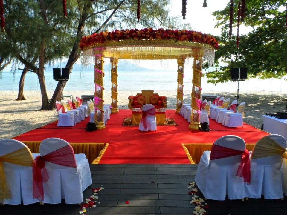mandap on the deck Indian wedding Westin Langkawi