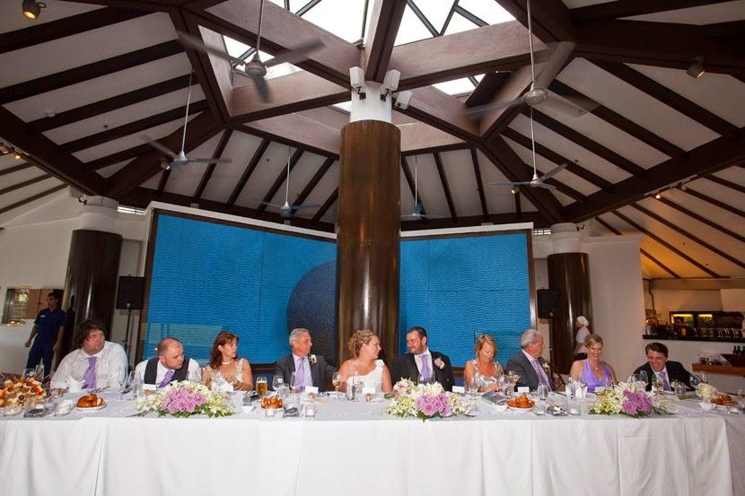 main long table facing the guests