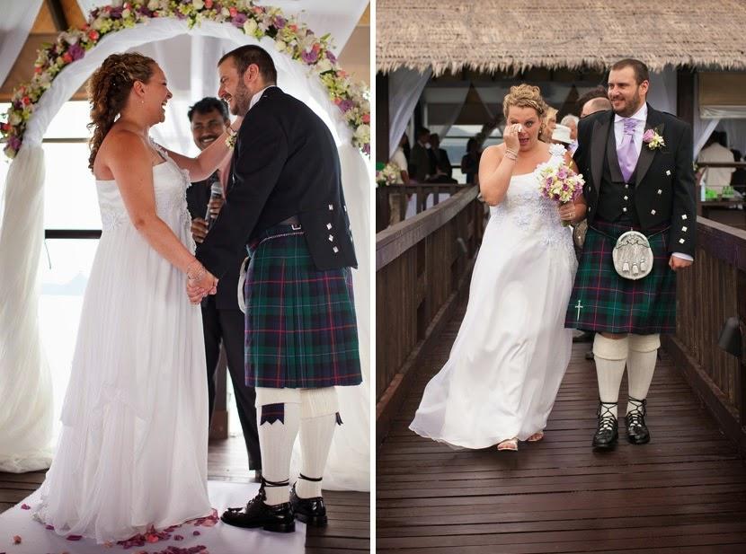 wedding on top of the sea