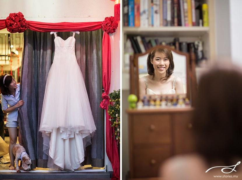 wedding red cloth