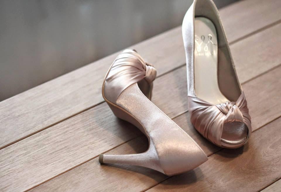 pink dusk satin shoes
