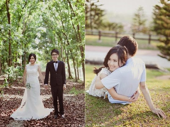 hugging on the grass