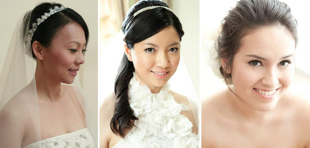 side swept bridal hair, clean smooth complexion