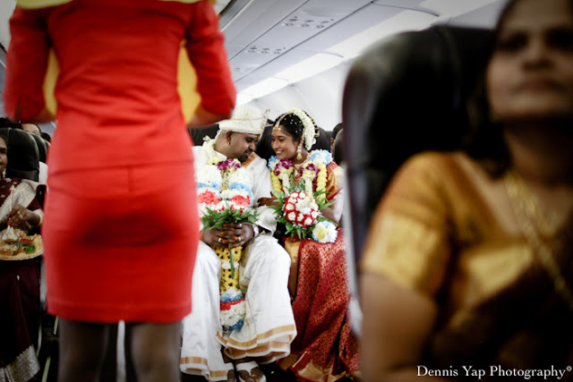 saree full wedding costume on plane celebration