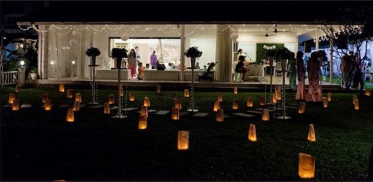 side fairy lights hang out band dj wedding