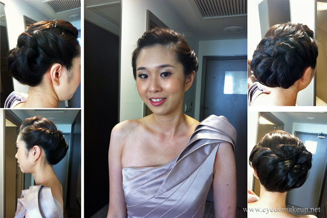sophisticated updo evening gown