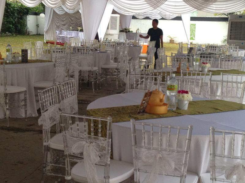 glass chair buffet lunch