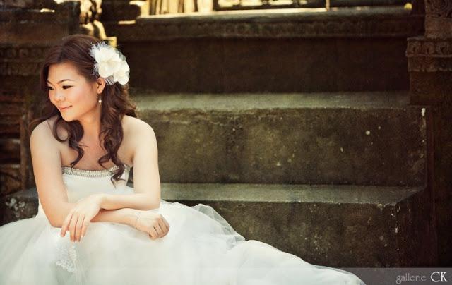sitting down bride