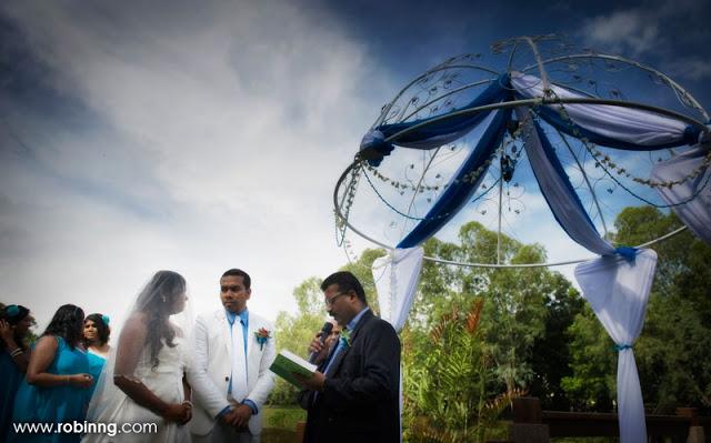 garden wedding at bandar botanic