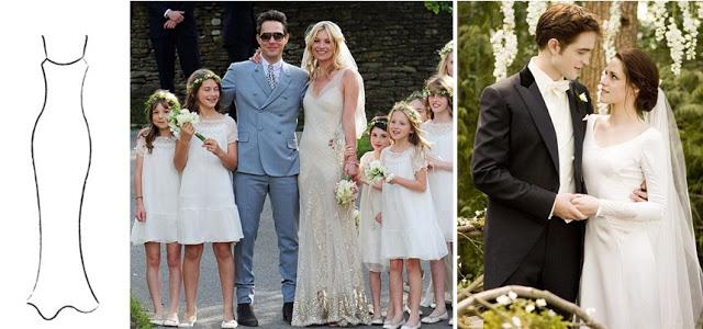 Kate Moss wedding day, Kristen Stewart (in the movie Twilight)