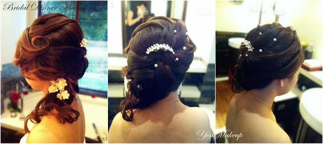 accessorised with hair pieces
