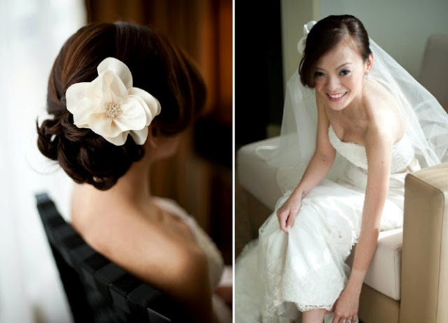 back view of bridal hair
