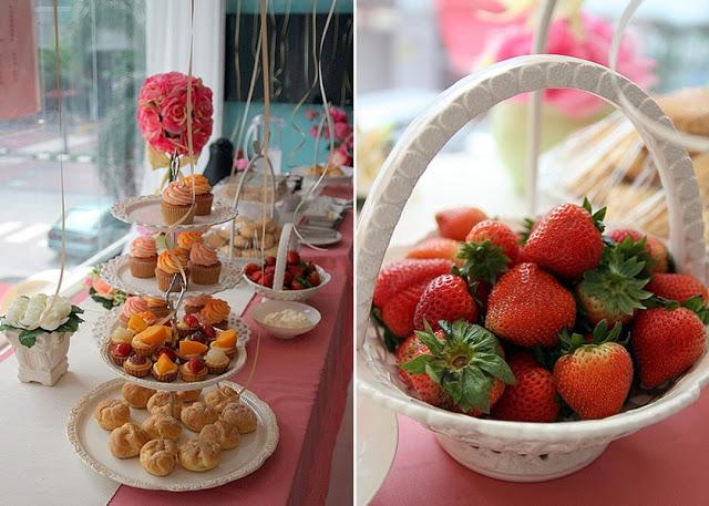 fruit tarts cream puff cup cakes