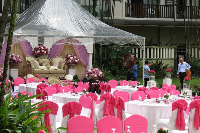 philea mines wellness hotel transparent tent outdoor wedding majlis nikah