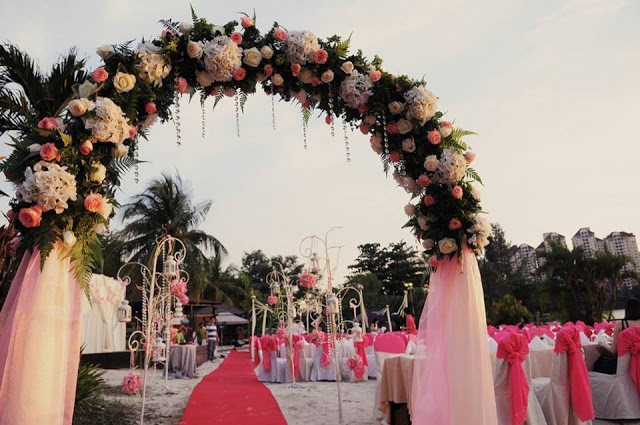 garden wedding man made beach philea mines resort