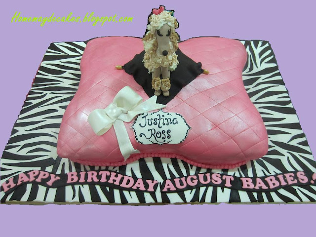 poodle on a pillow cake