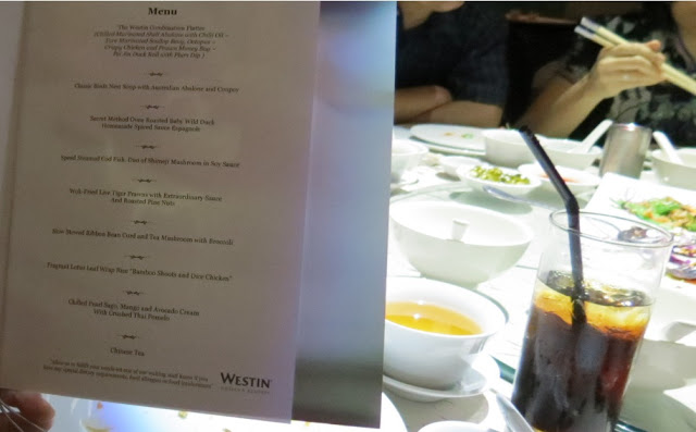 wedding menu westin kl