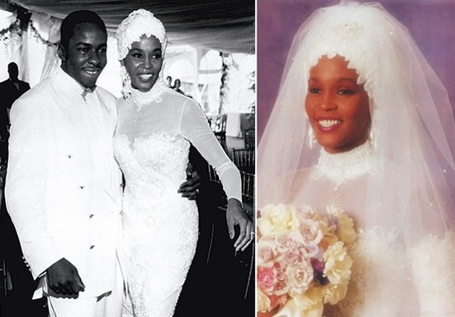 bobby brown high neck wedding gown