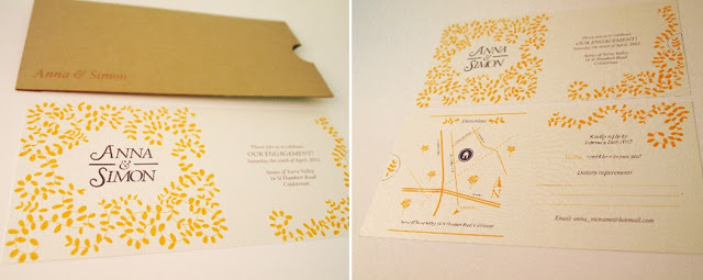stephenson chilled white wedding invite