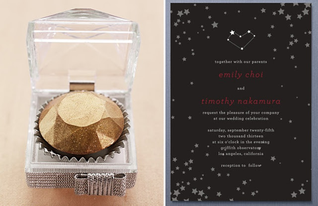 celestial star flavored wedding invitation