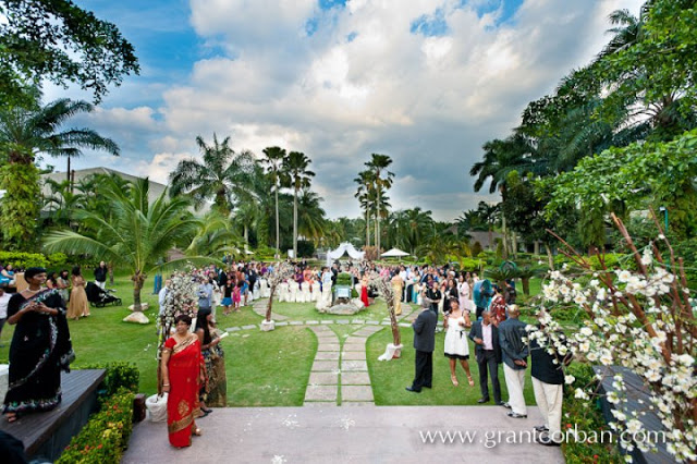 garden wedding church ceremony