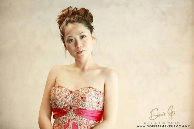 wedding red dress, beautiful bride who looks like a model