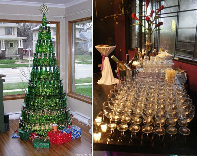 be creative beverage station for wedding