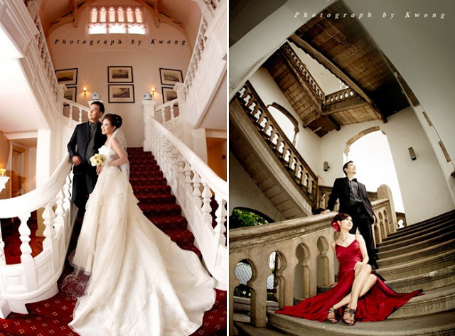 luxurious wedding photo stairs