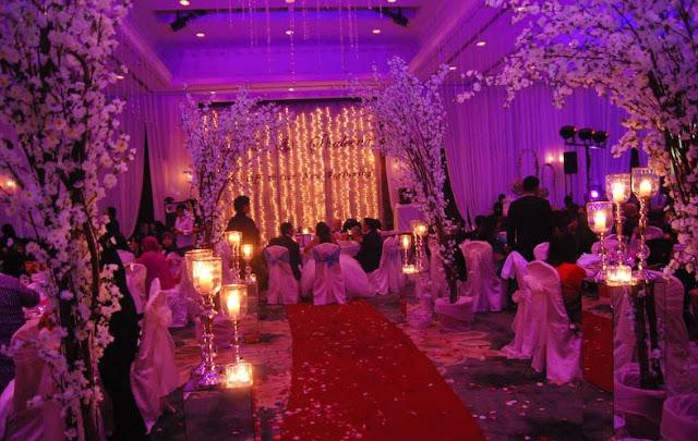 wedding hall purple dim romantic lighting cyberview resort