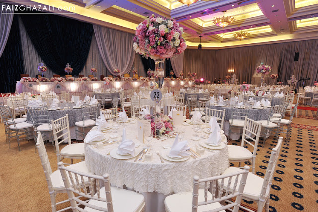 all white table setting