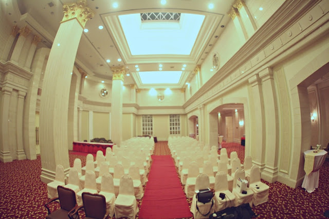 Indoor wedding ceremony church