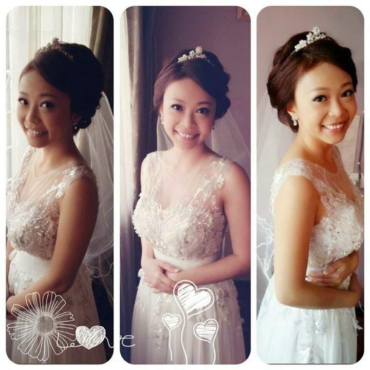 happy bride all smiles