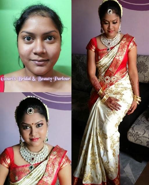 indian wedding sari in pleats
