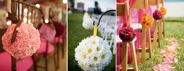 pink poms garden wedding