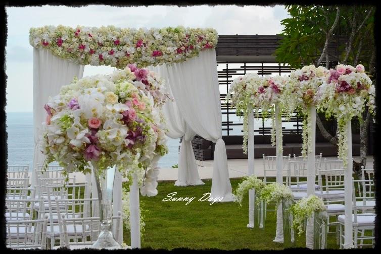 beach wedding flowers Malaysia
