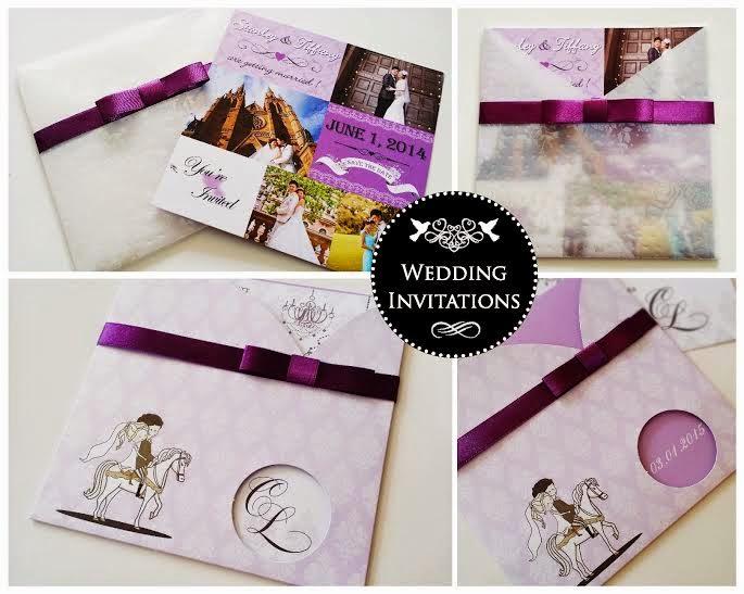 purple wedding invite KL