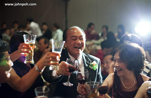 laughter during toasting