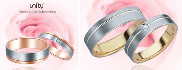 rose gold platinum wedding ring malaysia