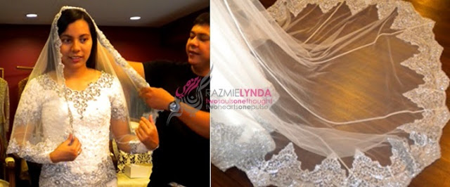 lace veil for malay wedding