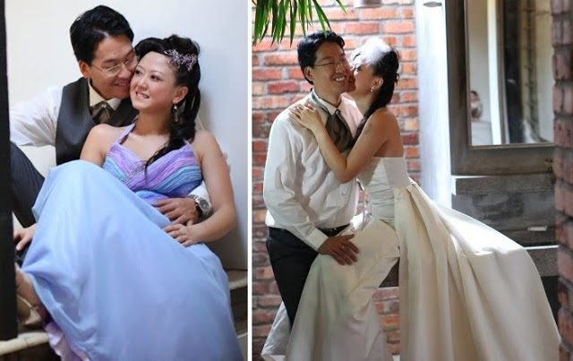 kissing the groom