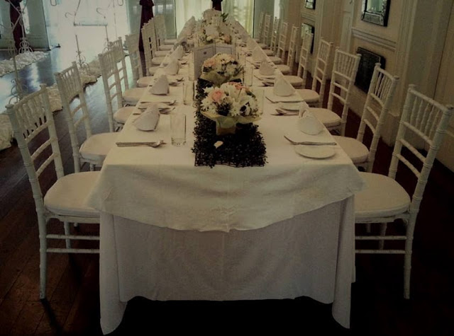 authentic wedding setting
