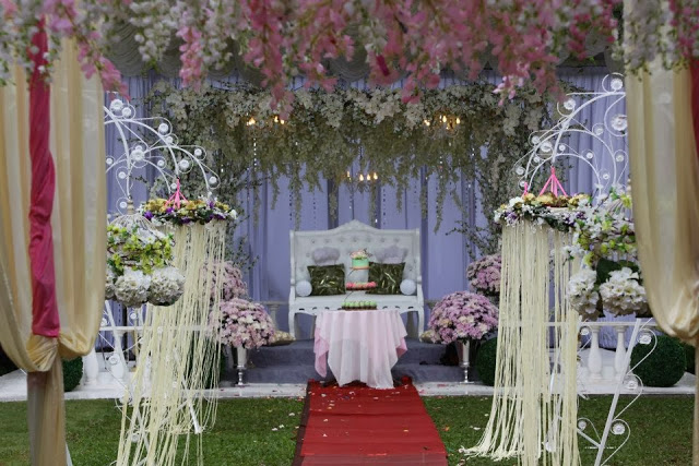 cantik romantis bunga kebun kahwin
