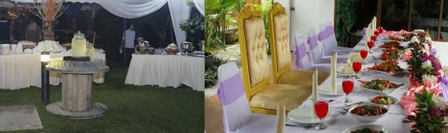 buffet spread garden wedding