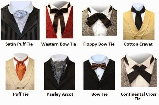 satin puff floppy bow paisley ascot, cross tie