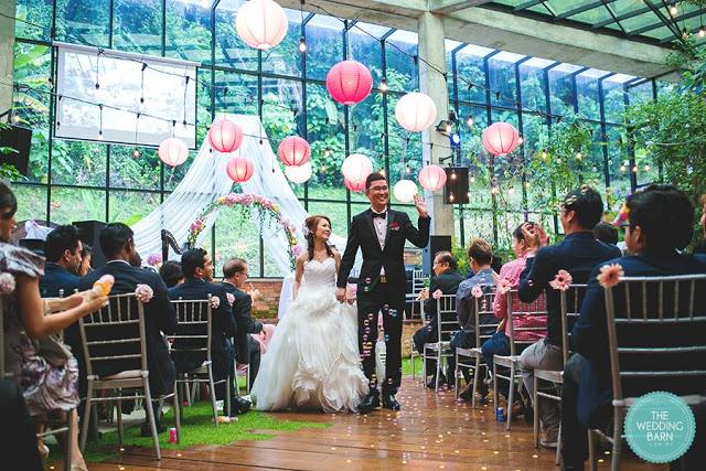 wedding venue KL with glittery floor