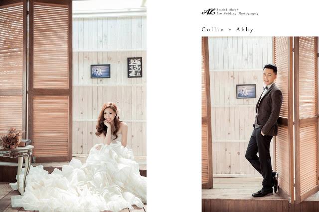bride and groom posing separately