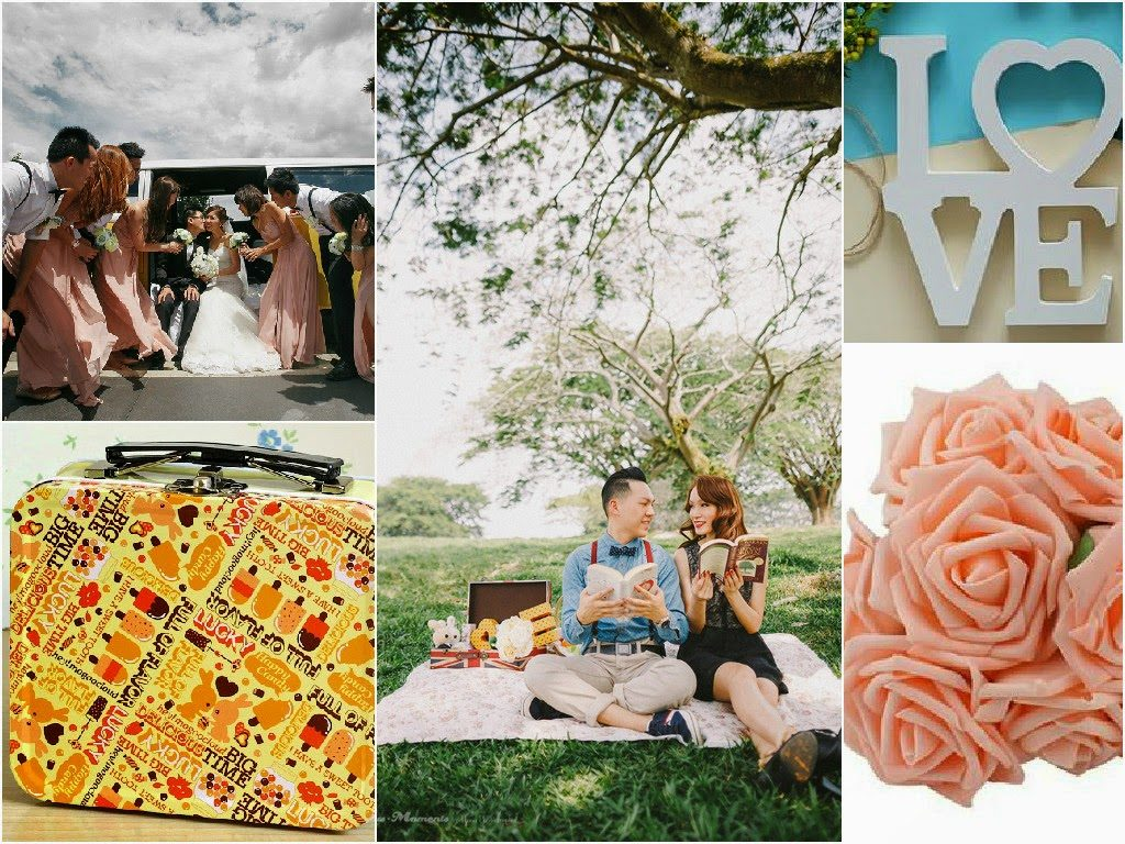 cute box letter flower picnic outdoor shoot